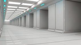 Arquitetura interior futurista Fotografia de Stock Royalty Free