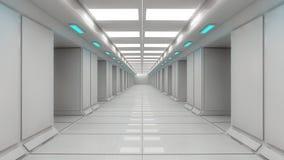 Arquitetura interior futurista Foto de Stock