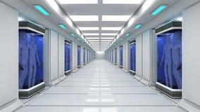 Arquitetura interior futurista Fotos de Stock