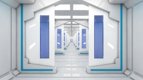 Arquitetura interior futurista Foto de Stock Royalty Free