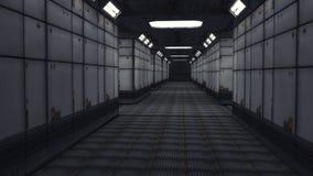 Arquitetura interior moderna do scifi Foto de Stock