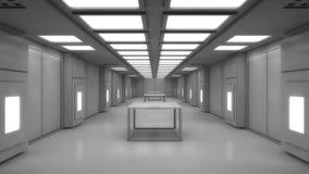 Arquitetura interior moderna do scifi Fotos de Stock