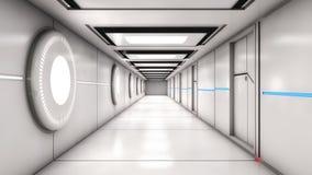 Arquitetura interior moderna do scifi Fotos de Stock Royalty Free