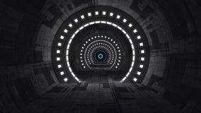Arquitetura interior moderna do scifi Imagens de Stock