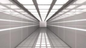Arquitetura interior moderna do scifi Imagens de Stock Royalty Free