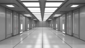 Arquitetura interior moderna do scifi Imagem de Stock Royalty Free
