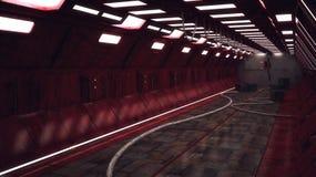 Arquitetura interior moderna do scifi Imagem de Stock