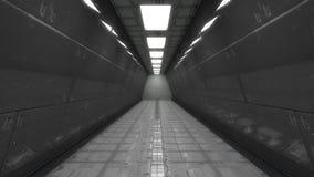 Arquitetura interior moderna do scifi Fotografia de Stock Royalty Free