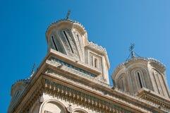 Arquitetura intricada em um monastério fotografia de stock royalty free