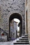 Arquitetura medieval em San Gimignano, Italy fotografia de stock