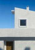 Arquitetura mediterrânea da casa branca ilustração stock