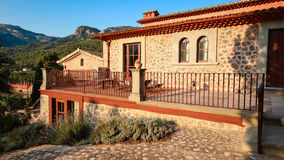 Arquitetura mediterrânea de Balearic Island de Mallorca, Finca Imagem de Stock