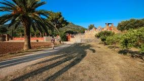 Arquitetura mediterrânea de Balearic Island de Mallorca, Finca Imagens de Stock