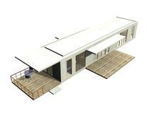 Arquitetura moderna. 3D rendeu a ilustração. Ilustração Stock