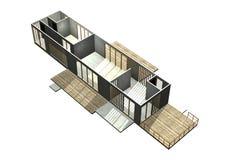 Arquitetura moderna. 3D rendeu a ilustração. Ilustração do Vetor