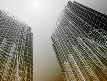 Arquitetura moderna abstrata Fotografia de Stock Royalty Free