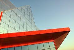 Arquitetura moderna Construção no estilo da alto-tecnologia Foto de Stock Royalty Free