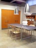 Arquitetura moderna da cozinha Fotos de Stock Royalty Free