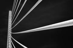 Arquitetura moderna da ponte foto de stock royalty free