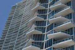 Arquitetura moderna de Miami fotografia de stock royalty free