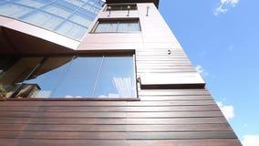 Arquitetura moderna do plano do endere?o do hotel vídeos de arquivo