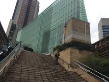 Arquitetura moderna do Tóquio Fotografia de Stock Royalty Free