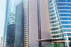 Arquitetura moderna dos arranha-céus do negócio Imagem de Stock Royalty Free