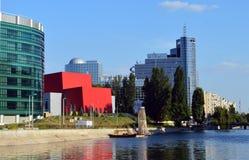 Arquitetura moderna em Bucareste, Romênia Imagem de Stock Royalty Free