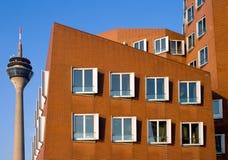 Arquitetura moderna em Dusseldorf Foto de Stock Royalty Free