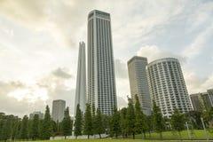 Arquitetura moderna em Singapore Imagem de Stock