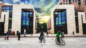 Arquitetura moderna na cidade Southampton Imagem de Stock