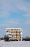 Arquitetura moderna no inverno imagens de stock royalty free