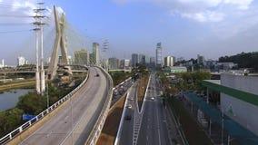 Arquitetura moderna Pontes modernas Ligando dois pontos diferentes O cabo ficou a ponte no mundo, Sao Paulo Brazil filme