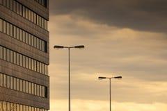Arquitetura moderna, Praga, rep?blica checa fotografia de stock