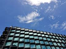Arquitetura moderna, Singapore fotografia de stock