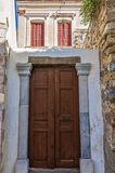 Arquitetura na ilha de Leros, Grécia fotos de stock royalty free