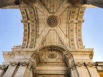 Arquitetura no centro de Lisboa, Portugal Imagem de Stock