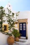 Arquitetura no console de Kythera, Greece foto de stock