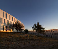 Arquitetura no por do sol Foto de Stock Royalty Free