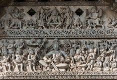 Arquitetura no templo de Chennakeshava em Belur, Karnataka, Índia Foto de Stock Royalty Free