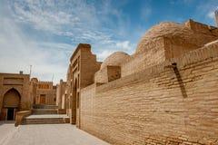 Arquitetura oriental Ásia central A cidade antiga de Khiva Imagens de Stock Royalty Free