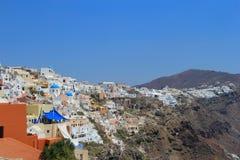 A arquitetura original de Santorini, Grécia Fotografia de Stock Royalty Free