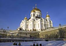 Arquitetura ortodoxo de Moscou Rússia do salvador de christ da catedral fotografia de stock royalty free