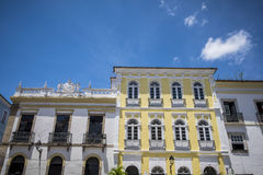 Arquitetura portuguesa colonial em Pelourinho fotos de stock royalty free