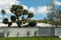 Arquitetura residencial do Palm Springs imagem de stock royalty free