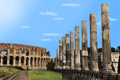 Arquitetura romana Fotografia de Stock Royalty Free