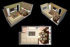 Arquitetura - sala 3D Foto de Stock