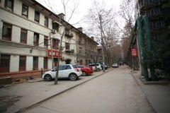 A arquitetura soviética do estilo na cidade de Zhengzhou Foto de Stock Royalty Free