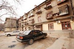 A arquitetura soviética do estilo na cidade de Zhengzhou Foto de Stock