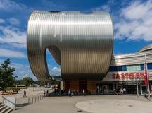Arquitetura soviética e socialista em Berlim fotografia de stock